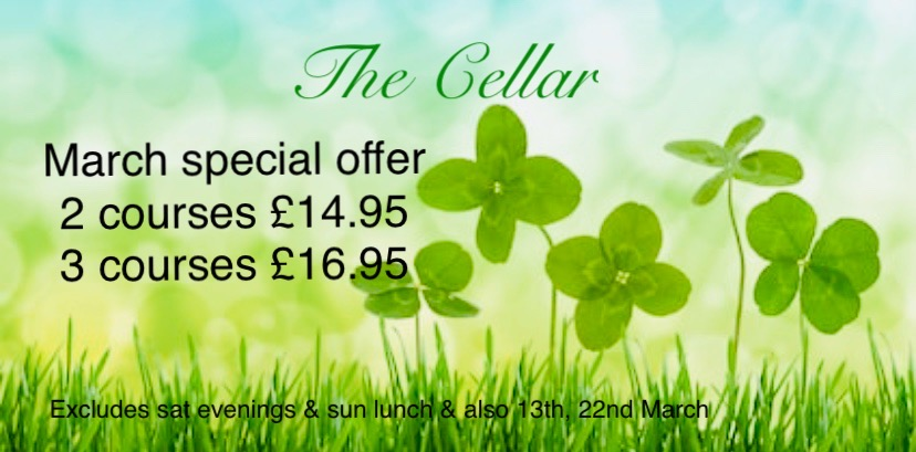 March Special Offers Menu